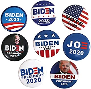 Joe Biden for President 2020 Election Campaign Buttons, 8 Pack
