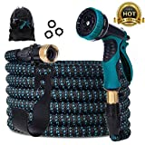 Gardguard 50ft Expandable Garden Hose: Water Hose with 9 Function Nozzle and...