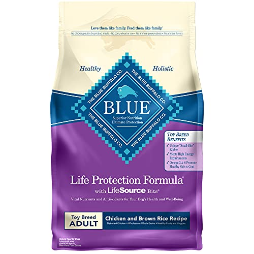Blue Buffalo Life Protection Formula Natural Adult Toy Breed Dry Dog Food, Chicken and Brown Rice 4-lb