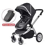 Hot Mom Multi Kinderwagen Kombikinderwagen 2 in 1, 2020 neues Design Sitz und Buggy frei umbau mit...