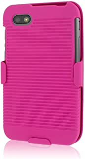 Mpero Collection 3-in-1 Tough Kickstand Case for BlackBerry Q5 - Pink