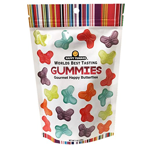 Happy Yummies Worlds Best Tasting Gummies (Colorful Betterflies 7oz)