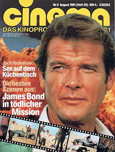 Cinema Nr. 08/1981 Jack Nicholson: Sex auf dem Küchentisch