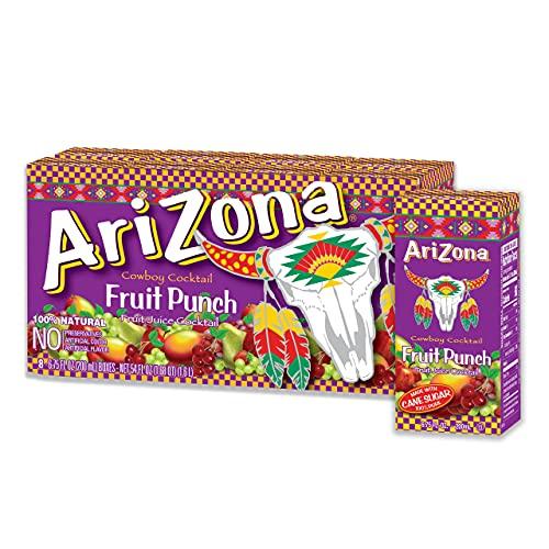 AriZona Fruit Punch Drink, 6.75 fl oz Tetra Box (Pack of 32)