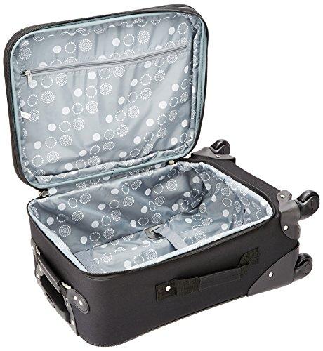 Rockland Pasadena Softside Spinner Wheel Luggage, Black