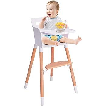 ベビーチェア 子ども椅子 キッズチェア 木製ハイチェア 天然木 ダイニング 木製いす 安全ベルト付き セーフティガード付き ナチュラル