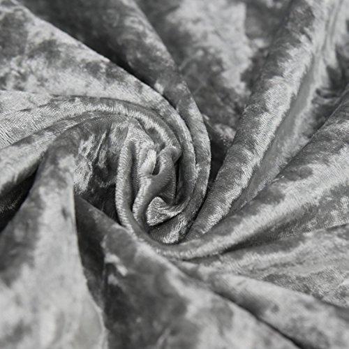 Bling Crushed Silber Samt–Ideal für Vorhang Polstermöbel Jalousien 147,3cm 147cm Breit–Meterware