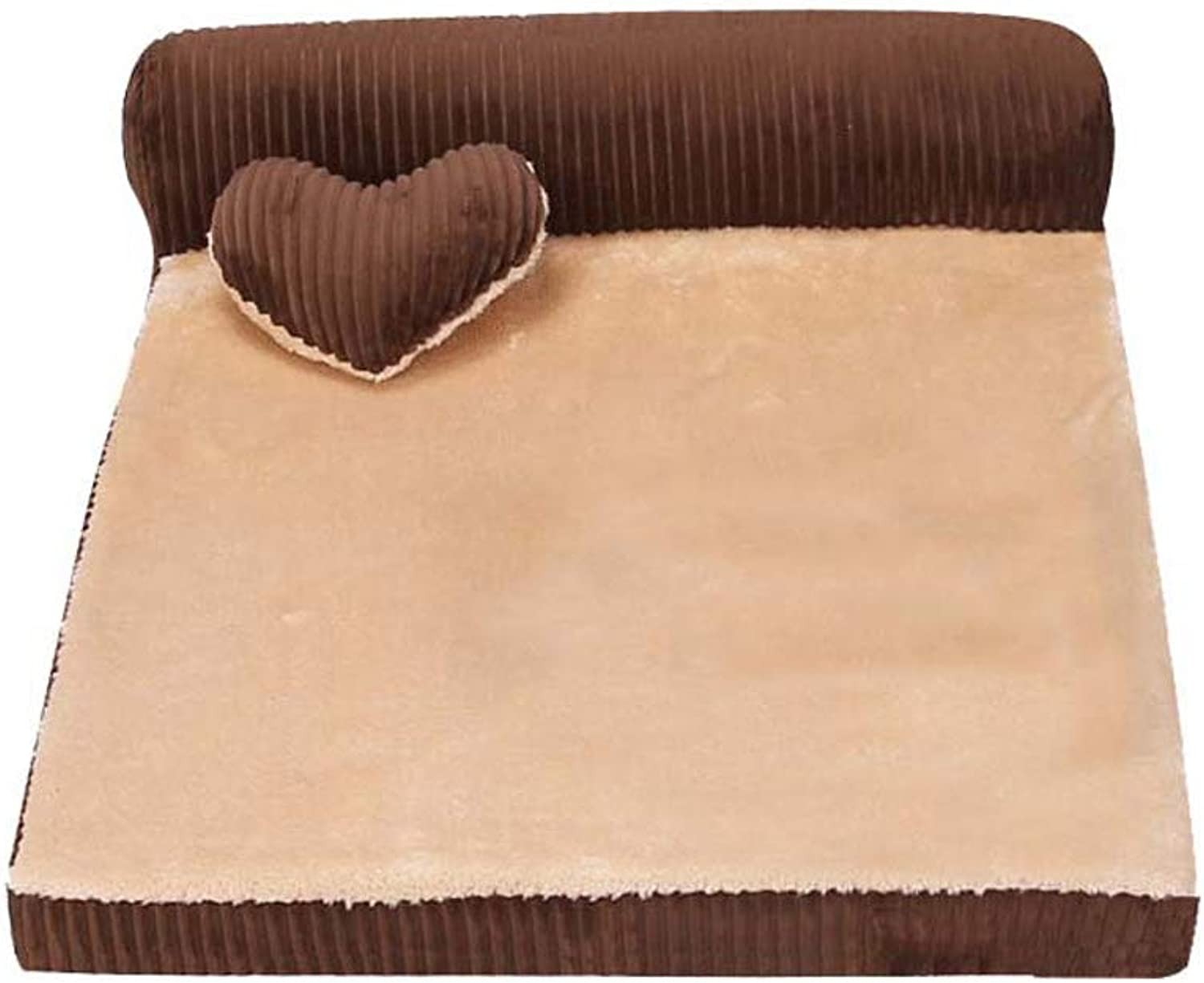 C_1X Kennel, Washable, Dog Bed, Dog Mat, Warm, Pet Nest, Dog House, Four Seasons Universal, Suitable for Cats and Dogs Pets(Brown, Red) (color   Brown, Size   S 55  45  15cm)