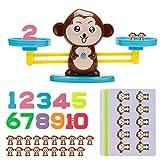 Vintoney Montessori Mathe Waage Spielzeug,Affen Balance Spielzeug Tierwaagen,Zählen und...