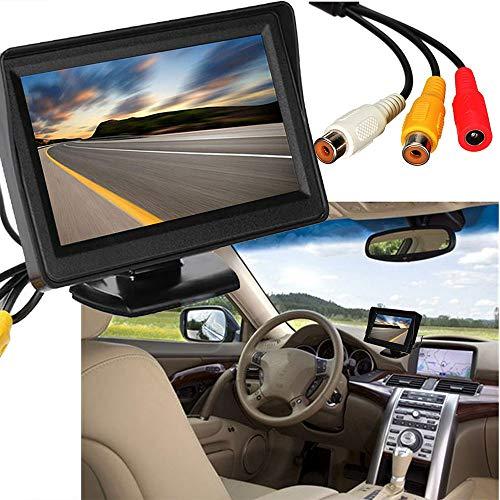 CXZX 4,3 Pouces Moniteur LCD de Voiture, Moniteur de rétrovision de Voiture igital Couleur TFT LCD pour Voiture, Camion ou SUV,