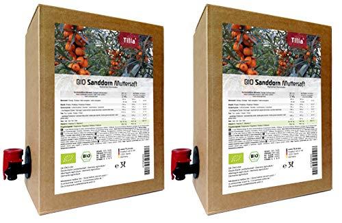 BIO Sanddorn Muttersaft - 100% Direktsaft 6 Liter ( 2 x 3 Liter )
