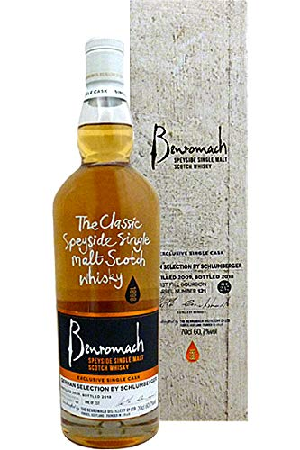 Benromach 2009-2018 First Fill Bourbon Barrel Whisky German Selection by Schlumberger 0,7 L
