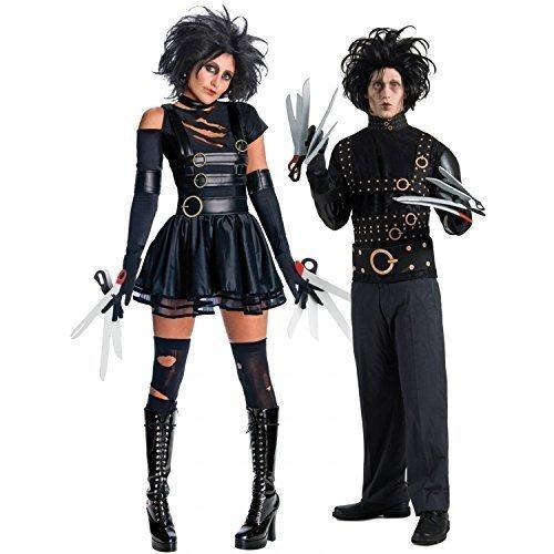 """Costume per travestimento da coppia, a tema il signore e la signora """"mani di forbice"""", costume per feste di Halloween"""