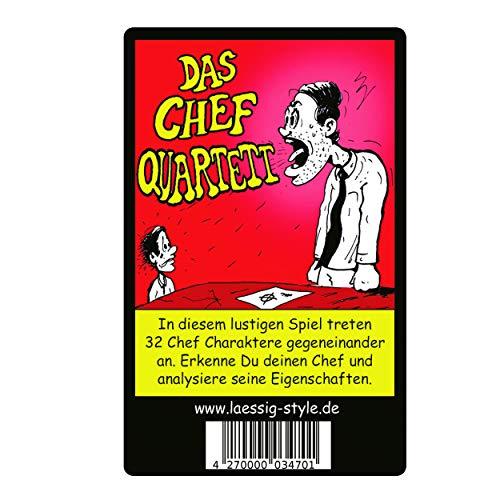 Preisvergleich Produktbild lässig-style Das ORIGINAL Chef Quartett Kartenspiel verschenken als Geschenk oder Abschiedsgeschenk für Deine Freunde und Kollegen im Büro und Baustelle