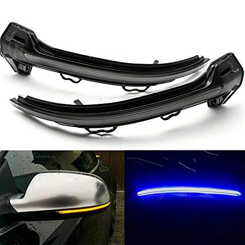 Ein Paar dynamisches Blinklicht Seitenspiegelanzeige für A4 S4 RS4 A5 S5 RS5 B9 2017 2018 mit strahlend blauem Licht