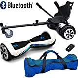 """Nero Sport Chic Bluetooth 6.5"""" Hover Scooter Board Self Balance with Hoverkart Go-Kart"""