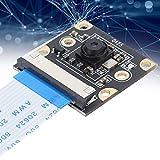 Módulo de cámara IMX219, módulo de microcámara de Seguridad de 8MP 77 ° FOV, CMOS de 1/4 de Pulgada, para reconocimiento Inteligente de IA / Facial / señalización Vial / matrícula (Negro)