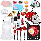 Anpro 32 PCS Kit de Cocina para Niños,Juguetes de Cocina Set,Juego de...