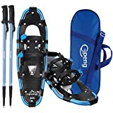 Gpeng 3-in-1 Xtreme Lightweight Terrain Snowshoes for Men Women Youth Kids, Light Weight Aluminum Alloy Terrain Snow Shoes with Trekking Poles and Carrying Tote Bag, 14'/21'/ 25'/27'/ 30'