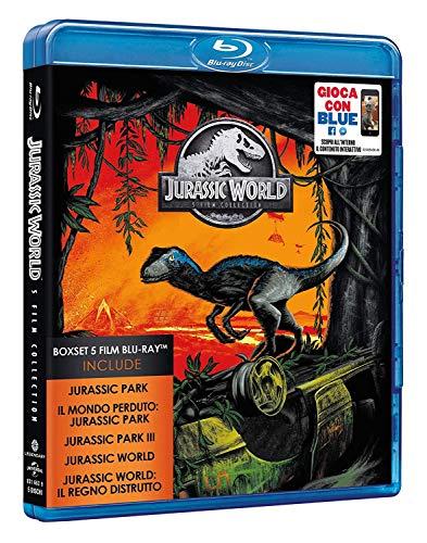 Blu Ray Jurassic Park Jurassic World 1-5 Collezione Completa (5 Film Blu Ray) Edizione Italiana