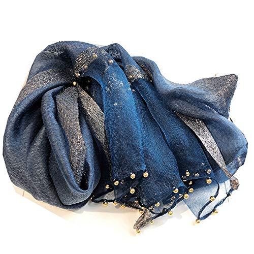 Xu Yuan Jia-Shop Moda Bufanda Chal Pañuelos de Noble Mujer Grandes mantones de Seda de otoño de Moda y Bufanda del Invierno Suave súper Wrap Pañuelo Bufanda acogedora
