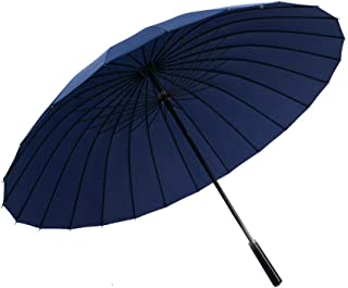 24k Japanese Style Traditional Long Handle Rain and Wind Large Double Umbrella