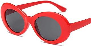 c53743cf0f Pavo Apasionado Mujer Gafas de Sol ovaladas Moda Nirvana Kurt Cobain Gafas  de Sol Hombres Mujeres