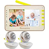 Best Dual Baby Monitors - Moonybaby Split 55 Video Baby Monitor 2 Cameras Review