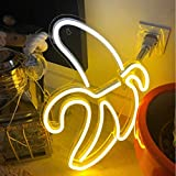Neon Signs 17.5' x 7' inch LED Neon Wall Sign for Cool Light, Wall Art, Bedroom Decorations, Home Accessories, Party, and Holiday Decor: Powered by USB Wire (Banana)