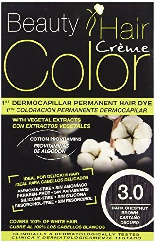 Beauty Hair Color - BHC30 - Coloration Permanente aux Extraits Végétaux - 3.0 Chatain Fonce