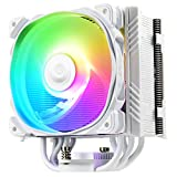 Enermax ETS-T50 Axe Addressable RGB CPU Air Cooler 230W+ TDP for Intel/AMD Univeral Socket 5 Direct Contact Heat Pipes 120mm PWM Fan White: ETS-T50A-W-ARGB