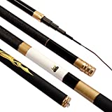 no brand Fibre de Carbone 3,6M 4,5M 5,4M 6,3M Spinning Canne à pêche télescopique M Power Canne à pêche Carp Feeder Rod Surf Poisson Canne à pêche Spinning Canne à pêche