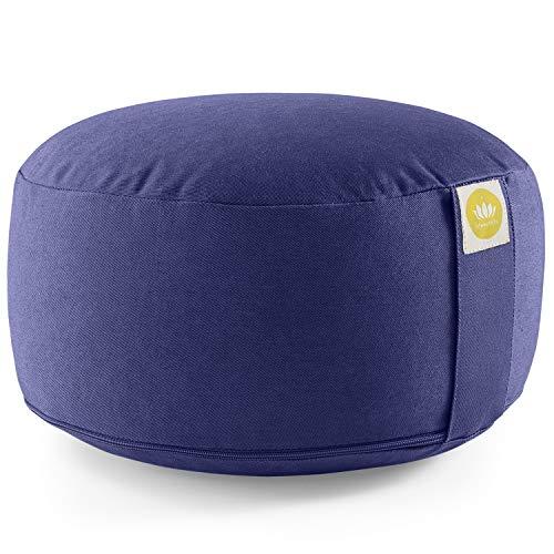 Lotuscrafts Yogakissen Meditationskissen Rund Lotus - komfortable & entspannte Mediation - Sitzhöhe...