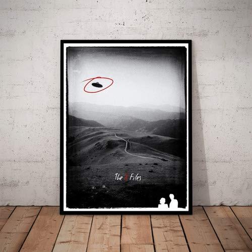 Quadro Serie Arquivo X X-files Poster Com Moldura