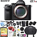 Sony a7R II Full-Frame Mirrorless Interchangeable Lens 42.4MP Camera Body Bundle with 64GB Memory Card, Camera Bag for DSLR, Camera Battery, Battery Charger, Paintshop Pro 2018 and 40.5mm Filter Kit