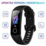honor band 5 smartwatch, activity tracker braccialetto per uomo donna, impermeabile, ip68, con cardiofrequenzimetro, monitoraggio dell'attività sportiva, fitness tracker con pedometro, nero