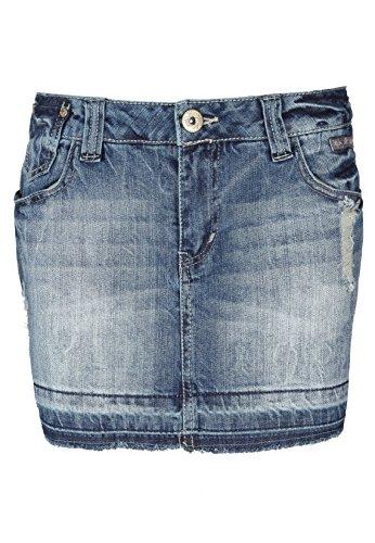 Fresh Made Damen Jeansrock Mini   Jeans Minirock aus hochwertigem Denim Middle Blue XS