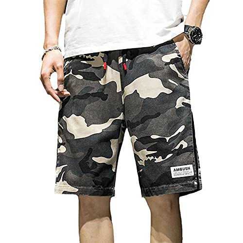 Pantalones cortos de trabajo de verano, básicos para hombre, con varios bolsillos, para el tiempo libre, 5 puntos, CAMO A_XXL