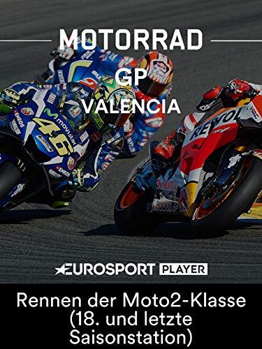 Motorrad: MotoGP 2018 - Großer Preis von Valencia (ESP) - Rennen der Moto2-Klasse (18. und letzte Saisonstation)