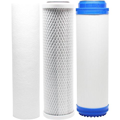 Kit de filtres de remplacement pour installations d'eau US 320-usws-310uv-50 RO Système – Comprend un bloc de charbon filtre, filtre à sédiments PP et GAC filtre – Denali Pure Marque