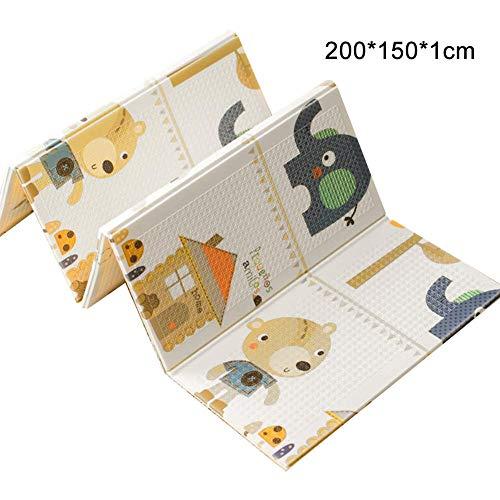 Beesuya Baby Kriechende Matte XPE Klettermatte Umweltfreundliche Picknick Matte X Spiel Teppich Wohnzimmer Schaum Pad