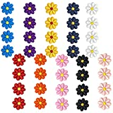 40 PCS Mini Parche de Flores de Margarita, 10 Colores Parches Ropa Termoadhesivo, Bordados Apliques de Alta Calidad, Fácil de Planchar, Decorativos Pegatinas para Jeans Bolsas