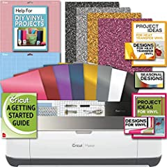The Cricut Maker Champagne Machine is the ultimate smart cutting machine. It's professional-level cutting performance is now accessible to everyone. It cuts hundreds of materials, from the most delicate fabric and paper to matboard and leather. The r...