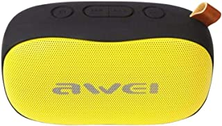 Awei Y900 Bass Wireless Bluetooth Speaker with Mic and strap (NFT) - Black/Yellow