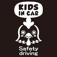 imoninn KIDS in car ステッカー 【パッケージ版】 No.69 ニワトリさん (白色)