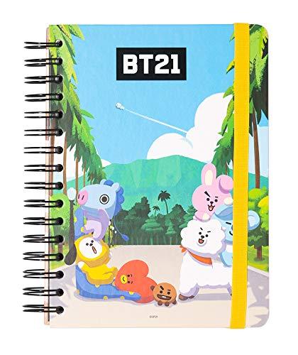 ERIK - Cuaderno de notas A5, Bullet Journal, Product oficial BT21 (15,6x21,6 cm)