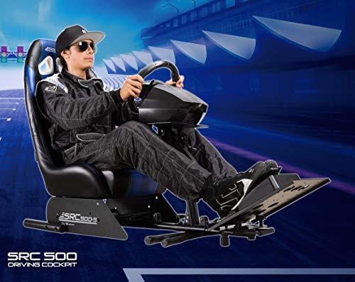 Subsonic - Asiento de carreras con soporte para volante y pedales - Silla de juego de simulación SRC 500 S para PS4, Xbox One, PC y PS3