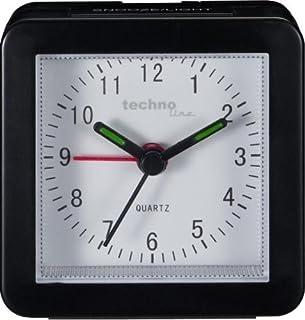 Technoline Geneva SC–Despertador de Cuarzo, Color Negro