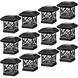 Twinsluxes Solar Post Cap Lights Outdoor - Waterproof LED Fence Post Solar Lights for...