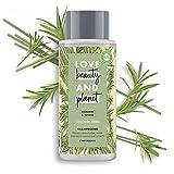 Love Beauty & Planet Shampooing Femme Vegan Cascade Detox, Romarin et Vétiver, Formule pour Cheveux Léger Certifié Vegan 400ml